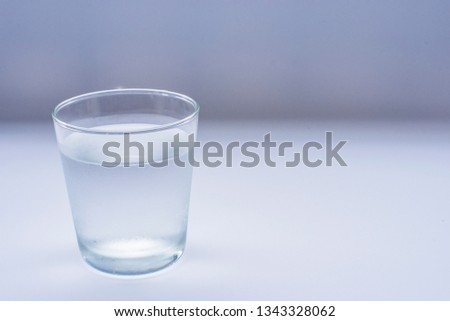 Cold water in a glass. #1343328062