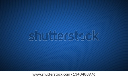 Modern blue abstract background, the look of stainless steel, circular lines on a blue background Royalty-Free Stock Photo #1343488976