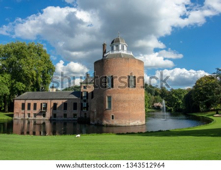 Small romantic castle Rosendael, located in Rozendaal, Gelderland, Netherlands. #1343512964