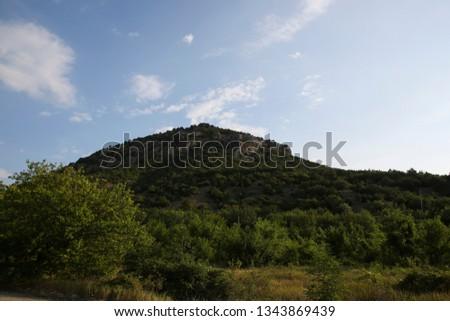 beautiful green mountains #1343869439