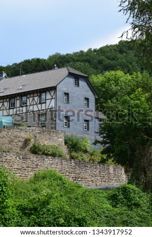 old half-timbered house #1343917952