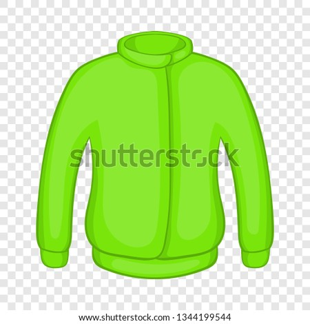 Green paintball jacket icon in cartoon style on a background for any web design  #1344199544