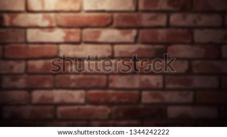 red textured brick wall. blurred.