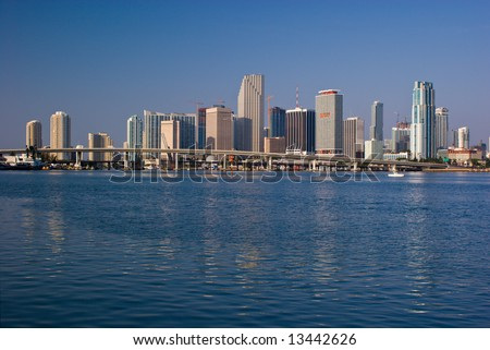 Miami Morning Bayfront Skyline #13442626