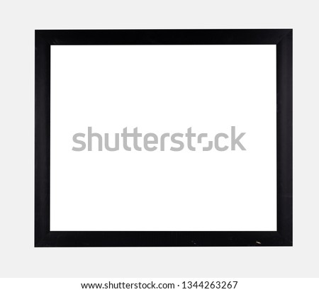Vintage frame wooden metal isolated
