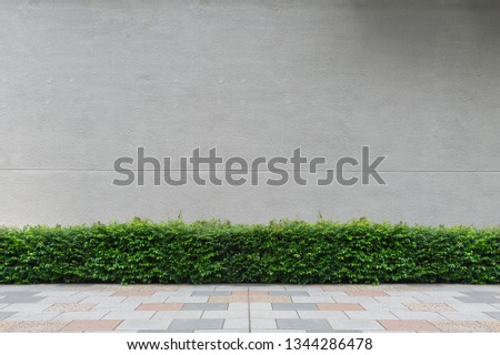 street wall background ,Industrial background, empty grunge urban street with warehouse brick wall #1344286478