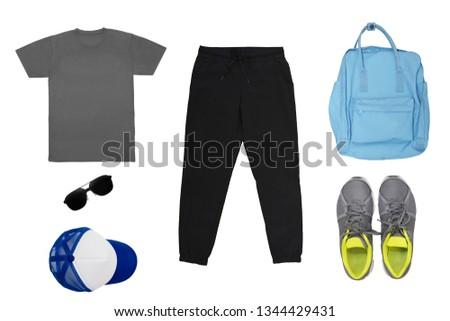 Isolated Men Fashion Sportwear Set #1344429431