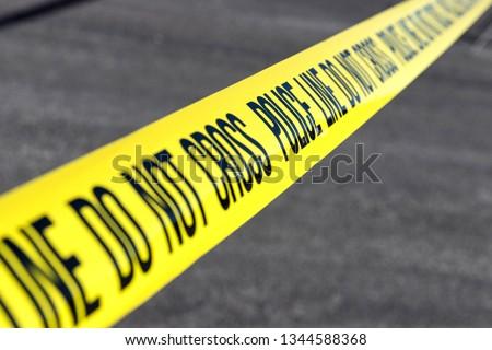 police line at crime scene #1344588368