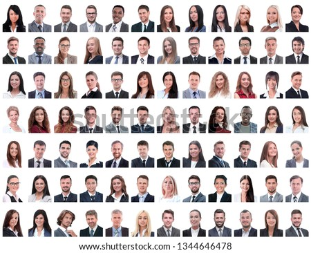 portraits of successful employees isolated on a white #1344646478