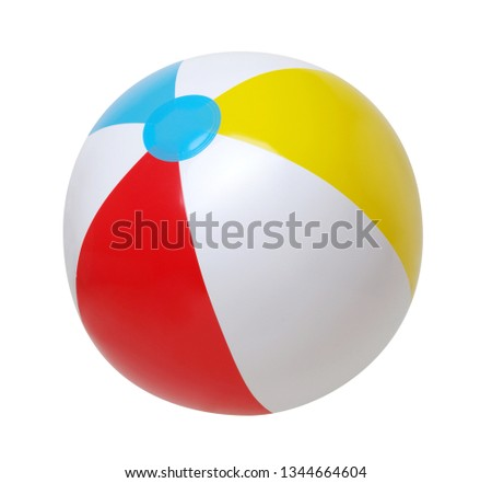Beach ball isolated on a white background #1344664604