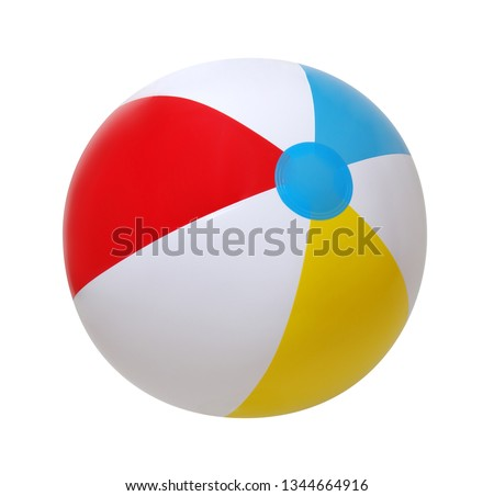 Beach ball isolated on a white background #1344664916
