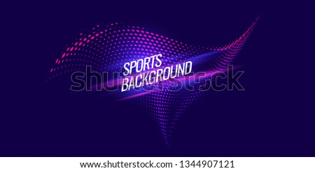 Modern colored poster for sports. Vector illustration Royalty-Free Stock Photo #1344907121