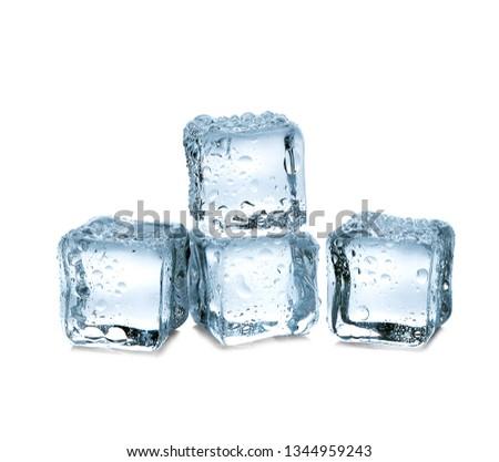 ice cubes on white background #1344959243