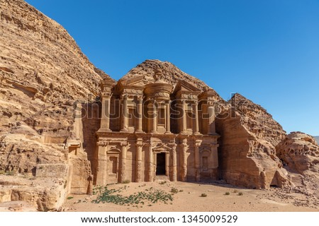 Ad Deir - Monastery in the ancient city of Petra. Petra is the main attraction of Jordan. Petra is included in the UNESCO heritage list. #1345009529