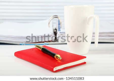 Business Concept -  Office Desk - Document. #134511083