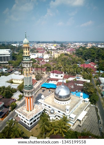 Aerial view of The Mosque.  #1345199558