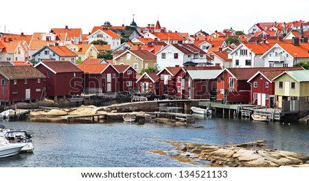 Smogen - typical fishing village in Sweden #134521133