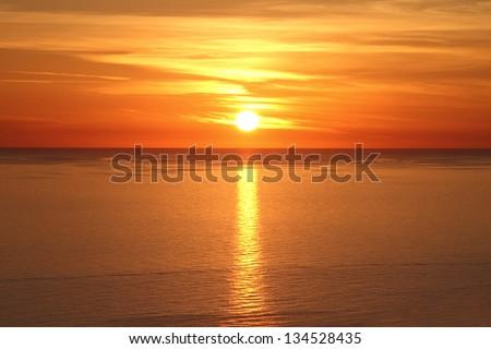 Beautiful sunset above the sea #134528435