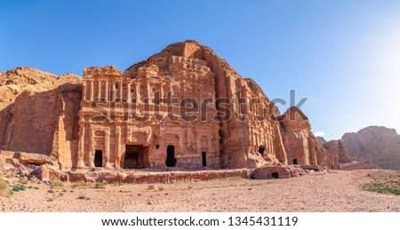 Palace Tomb. Petra, Jordan. Petra is the main attraction of Jordan. Petra is included in the UNESCO heritage list. #1345431119