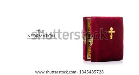 Icons faith bible pattern on white background isolation
