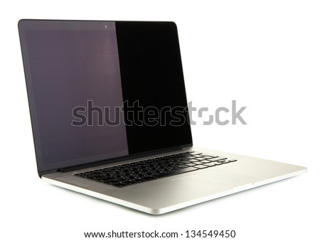 White laptop isolated on white #134549450