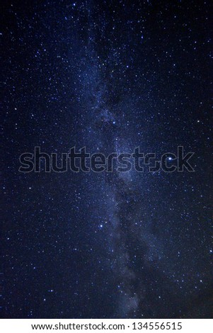 Long Exposure Time Lapse Image of the Night Stars #134556515