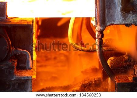 Scenes in steel mill #134560253