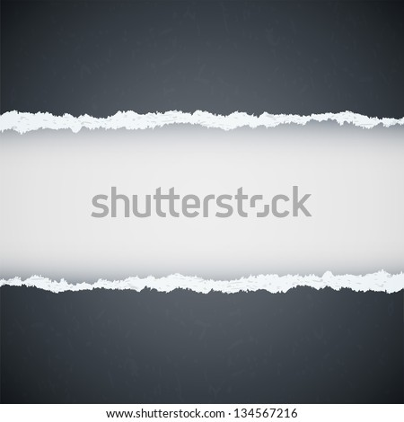 gray ripped paper #134567216