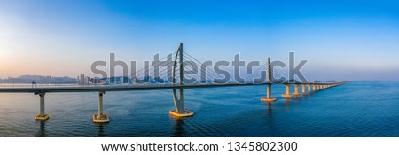 Hong Kong-Zhuhai-Macao Bridge Royalty-Free Stock Photo #1345802300