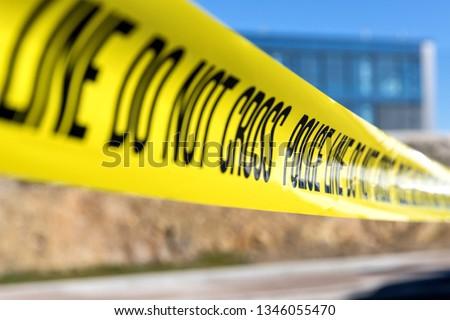 police line at crime scene #1346055470