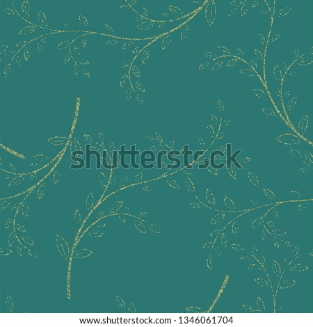 Floral seamless pattern with decorative branches. illustration #1346061704