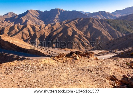 the Atlas mountains in Morocco. Royalty-Free Stock Photo #1346161397