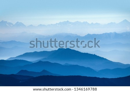 Dawn of the Hwangmasan mountain with the sea of clouds - Image  #1346169788
