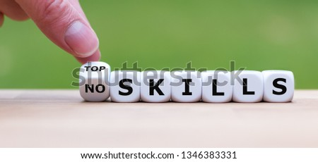 """Hand turns a dice and changes the expression """"no skills"""" to """"top skills"""". #1346383331"""