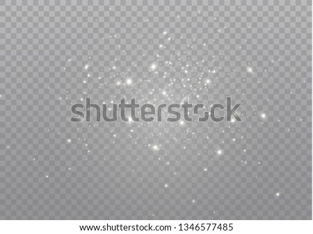 White sparks glitter special light effect. Vector sparkles on transparent background. Christmas abstract pattern. Sparkling magic dust particles #1346577485