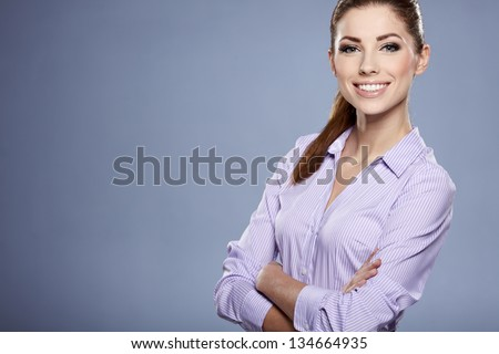 Cute young business woman #134664935