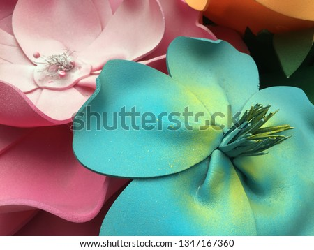Giant colorful handmade foamiran flowers #1347167360