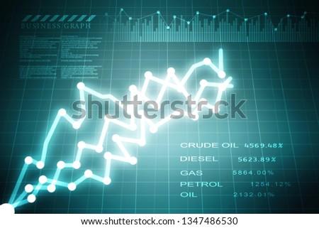 2d rendering Stock market online business concept. business Graph  #1347486530