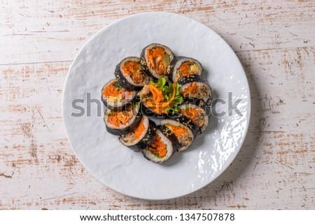 Korean foods gimbap(kimbap) #1347507878