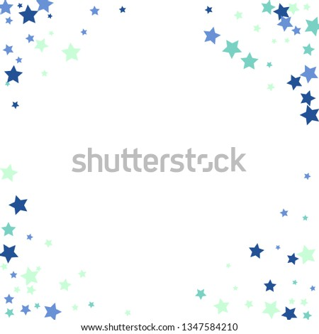 Colorful Stars Confetti, Mystery Sparkling Vector Background. Trendy Glowing Magic Glitter, Lights. Festive Falling Colorful Stars Confetti for Ads, Posters.   #1347584210
