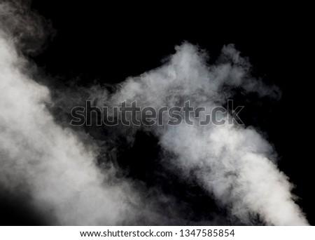 smoke isolated on black dark background  #1347585854