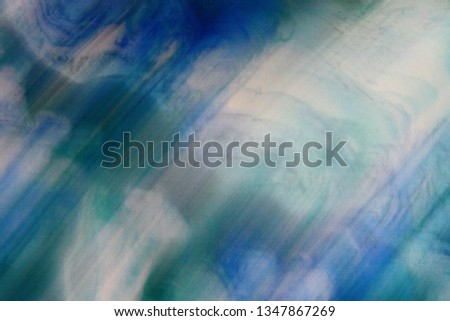 Blue Green White Colors Colorful Abstract Texture Background Blur Bokeh Acrylic Painting #1347867269