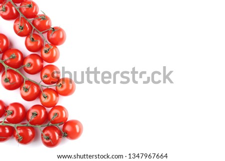 Cherry tomatoes isolated on white background #1347967664