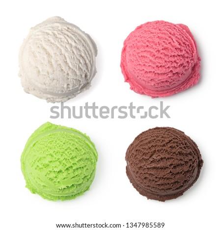 ice cream ball isolated on white background #1347985589