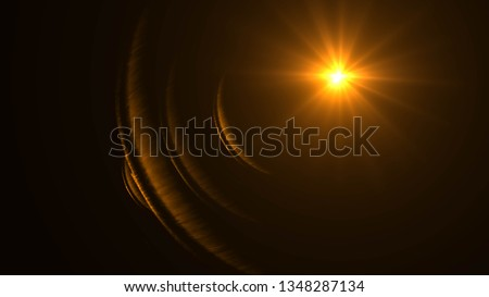 abstract glowing light sun burst with digital lens flare background. effect decoration with ray sparkles .Star burst with sparkles. Gold glitter, #1348287134