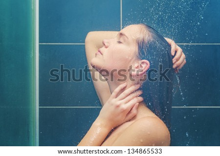 Beauty under shower #134865533