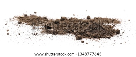 Dirt, soil isolated on white background Royalty-Free Stock Photo #1348777643