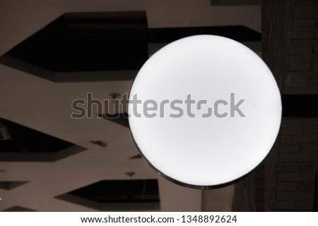Signboard shop Mock up Circle shape #1348892624