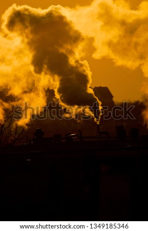 cityscape in heating season #1349185346