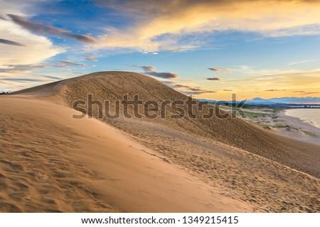 Tottori, Japan sand dunes on the Sea of Japan.  #1349215415